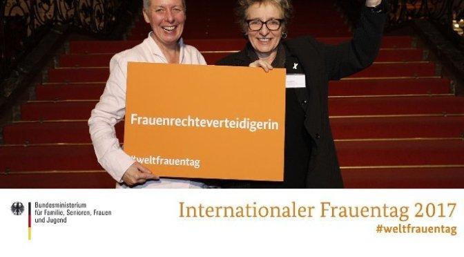 Fotoaktion beim Empfang Frau Ministerin Manuela Schwesig BMFSFJ anlässlich des Internationalen Frauentages in Berlin!