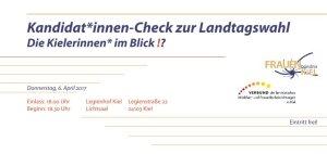 Podiumsdiskussion Kandidierenden-Check zur Landtagswahl