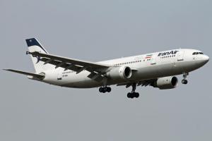 Airbus A300-605R IranAir, un des rares avions de la compagnie autorisé à se poser en Europe