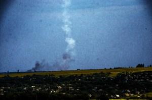 Panache de fumée du tir du Buk le jour du MH17