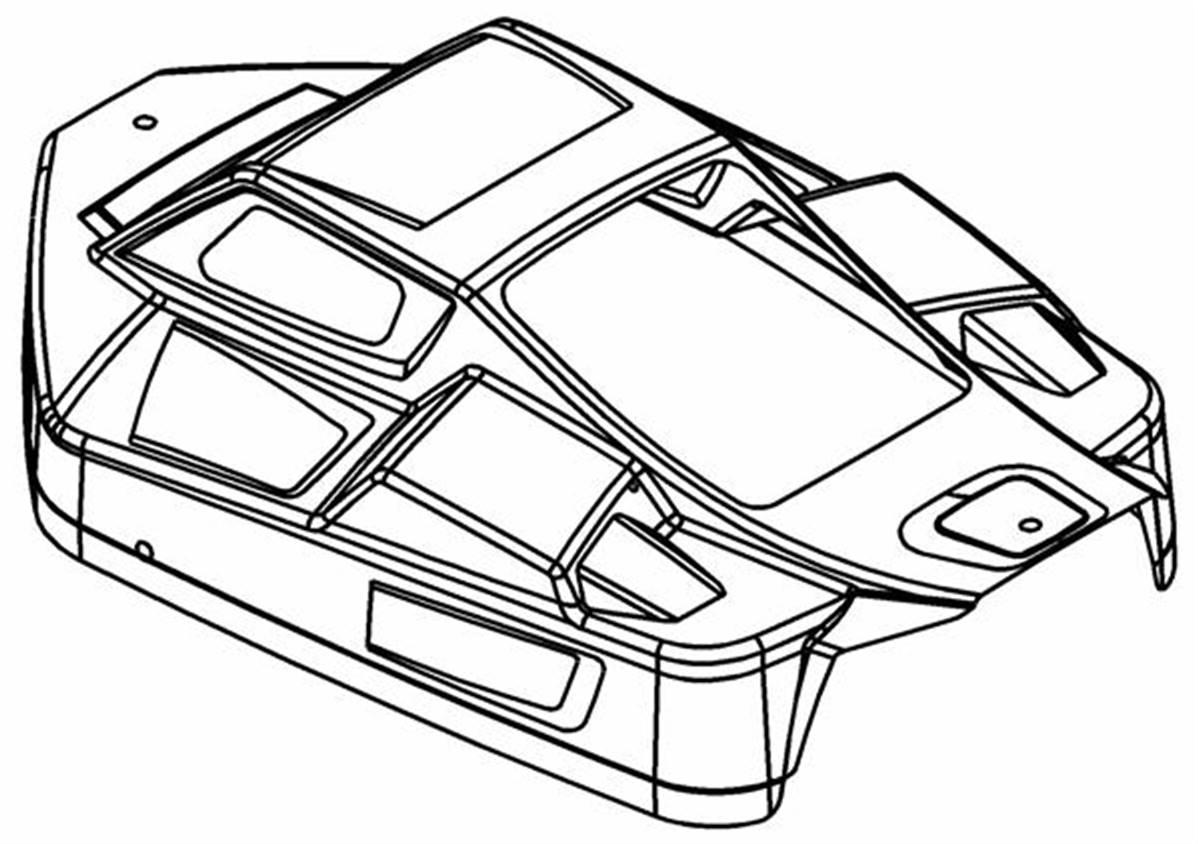 Kit Carrosserie Rr5 Lexan 2mm Avec Sticker Et Protection