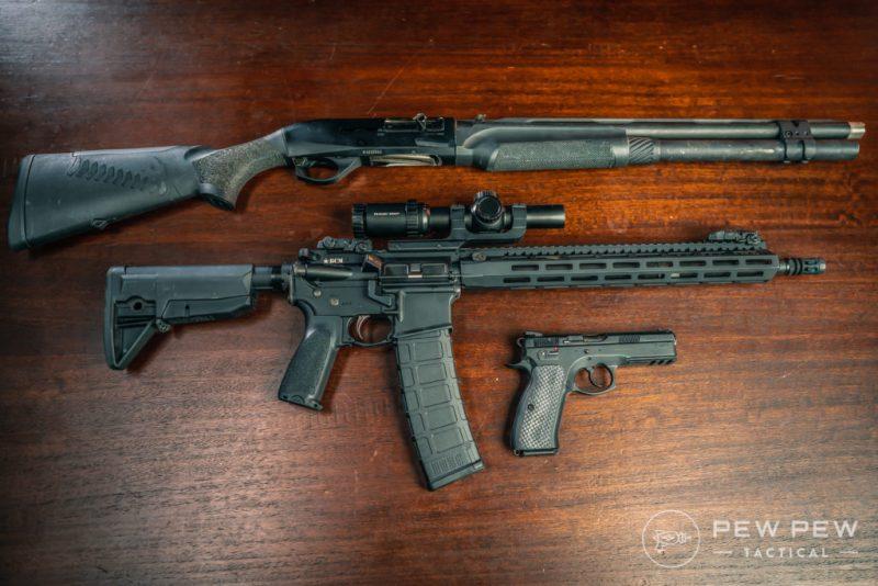 Benelli M2, CZ75, AR-15 (4)