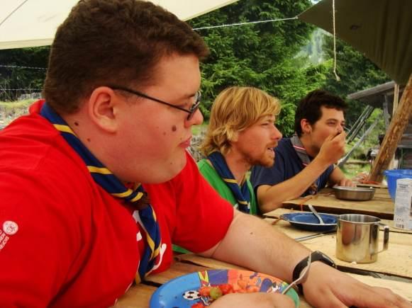 Die GuSp Führung beim Essen