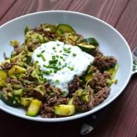 Türkische Zucchini Hackfleisch Pfanne