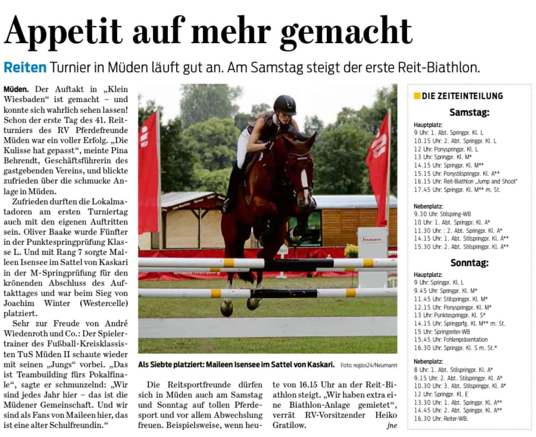 Quelle: Gifhorner Rundschau, 09.06.2018