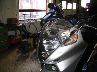 Xenon - Umbau beim Honda Silver Wing Roller