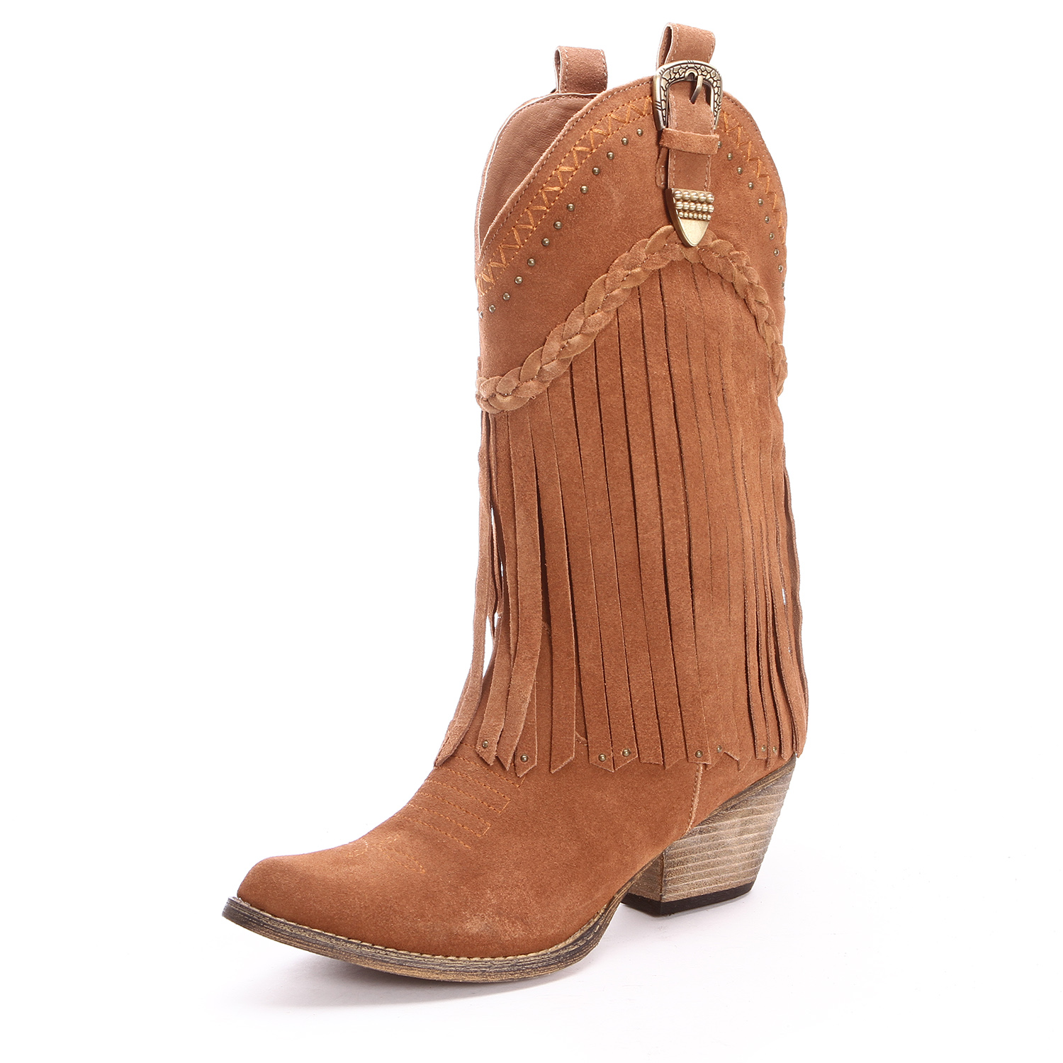 very volatile womens fringe cowgirl boots cognac