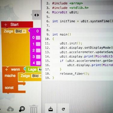 Der Calliope Mini lässt sich online programmieren und testen.
