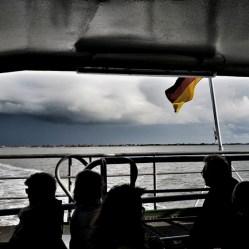 Blick zurück nach Baltrum bei der Überfahrt aufs Festland. Hier allerdings schon die endgültige Rückreise.