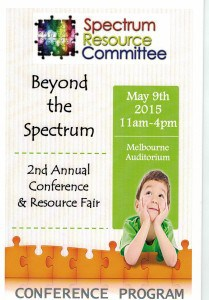 a picture of the program for the Beyond the Spectrum 2nd annual conference and resource fair