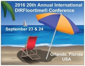 A Florida postcard announcing the 2016 DIR Conference in Orlando
