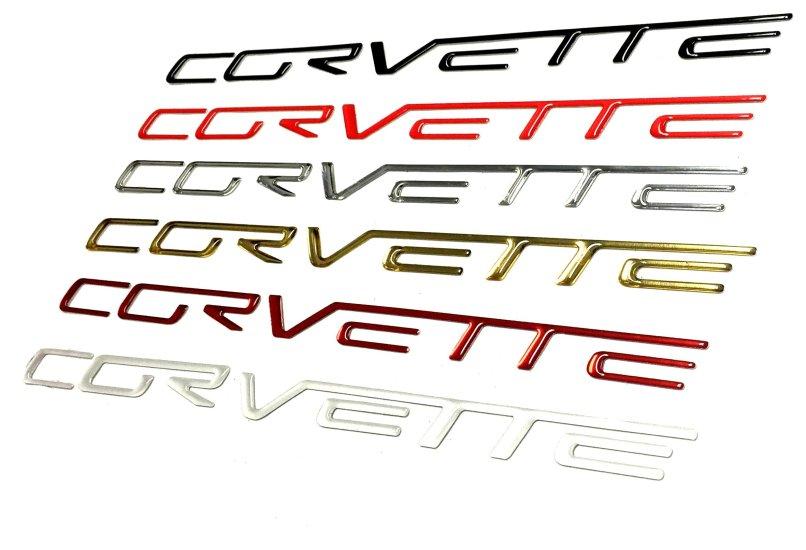 Domed Rear Per Lettering Inserts Letters Kit For C6 Corvette Pfyc