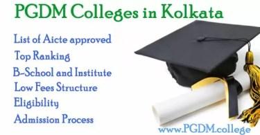 PGDM Colleges in Kolkata