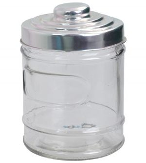 William Glass Jar - Avail in: Clear