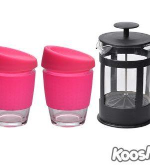 Kooshty Double Koffee Set Black Press - Avail in: White
