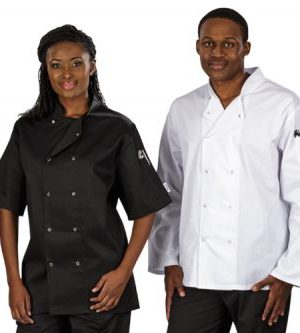 Zest Chef Jacket Short Sleeve - Avail in: Black