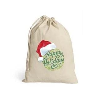 Sleigh Bells Drawstring Bag