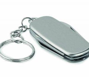 Multi Function Tool Keyring - Silver