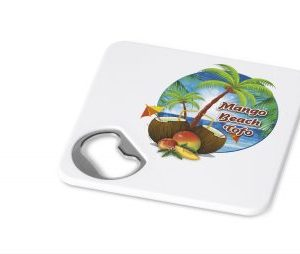 Good Times Coaster & Bottle Opener - White