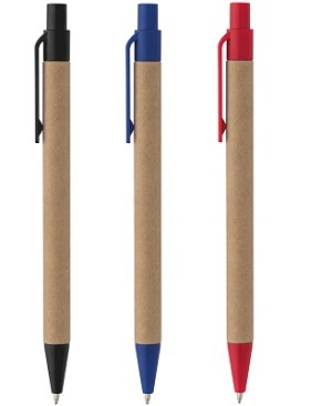 Eco-friendly ball pen - recycled paper barrel