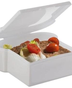 Plastic bread shaped lunch box