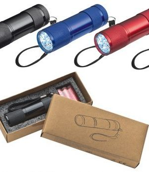 Aluminium torch with batteries