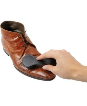 Plastic Shoe Horn and Polishing Sponge