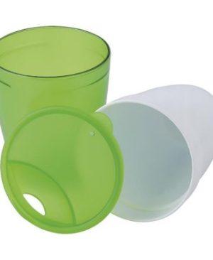 2 in 1 Plastic Mug