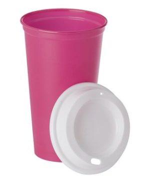 520ml Plastic Mug with Lid