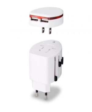Iconnect World Travel Adaptor - Avail in: Black or White
