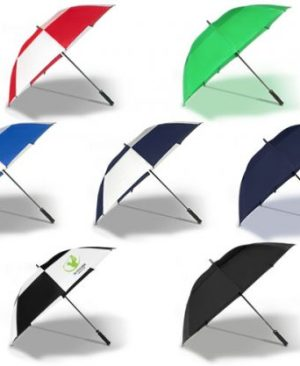 Shield Golf Umbrella - Avail in: Black/White