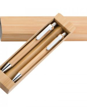 Bamboo ball pen  and pencil set