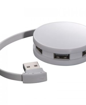 Snow White Plastic 4-port USB hub