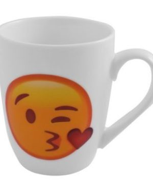 Emoji Oval Cone Mug - Kiss