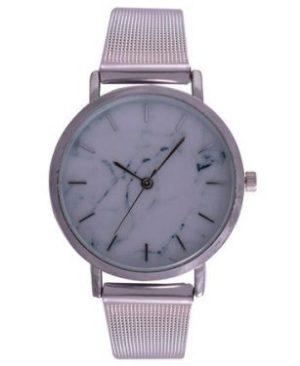 Ash White Wrist Watch - Silver Mesh