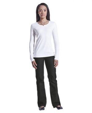 Ladies 145g Long sleeve T-shirt - Avail in: Black