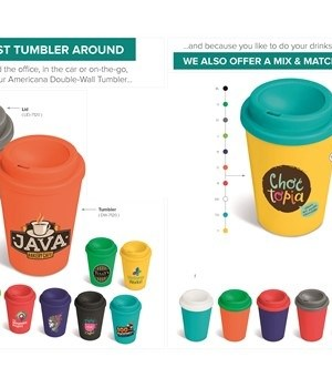 Americana Mix-n-Match Tumbler BASE - Black