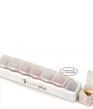 7-Days Pill Box - White