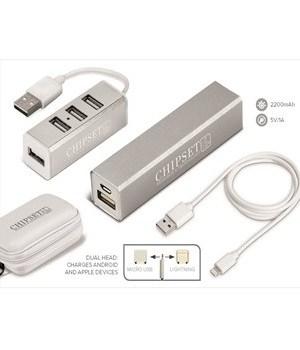 Odeon Power Bank & USB Hub Tech Set