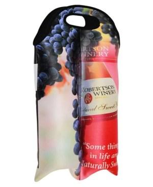 Tai Neoprene Dbl Wine Insulator- Can take a full colour printour Print