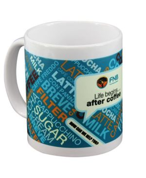 Luminous sub Mug - Can take a full colour print