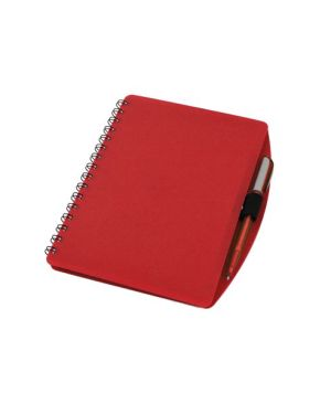 PVC Spiral Bound Notebook A5 with Pen