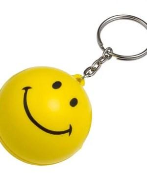 Smile Stress Ball Keychain