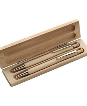 Maple Wood Pen And Clutch Pencil Set