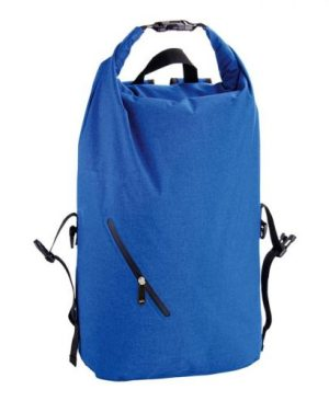 Melange Waterproof Backpack With Diagonal Zip