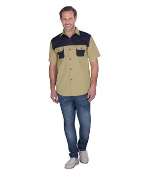 Mens Short Sleeve Serengeti Bush Shirt