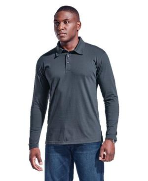 Barron Mens Caprice  Long Sleeve Golfer - Avail in: Black