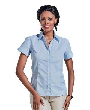 Barron Ladies Century Blouse Short Sleeve - Avail in: Green/White