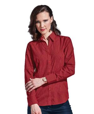 Barron Ladies Quest Long Sleeve Blouse - Avail in: Black/White