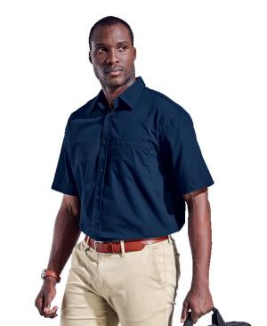 Barron Mens Basic Poly Cotton Lounge Short Sleeve - Avail in: Black